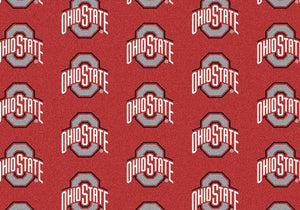 Ohio State Area Rug University Repeating Logo