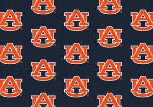 Auburn Area Rug University Repeating Logo