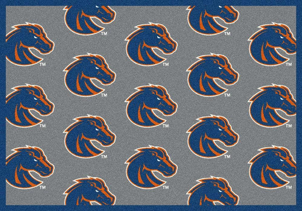 Boise State Area Rug University Repeating Logo