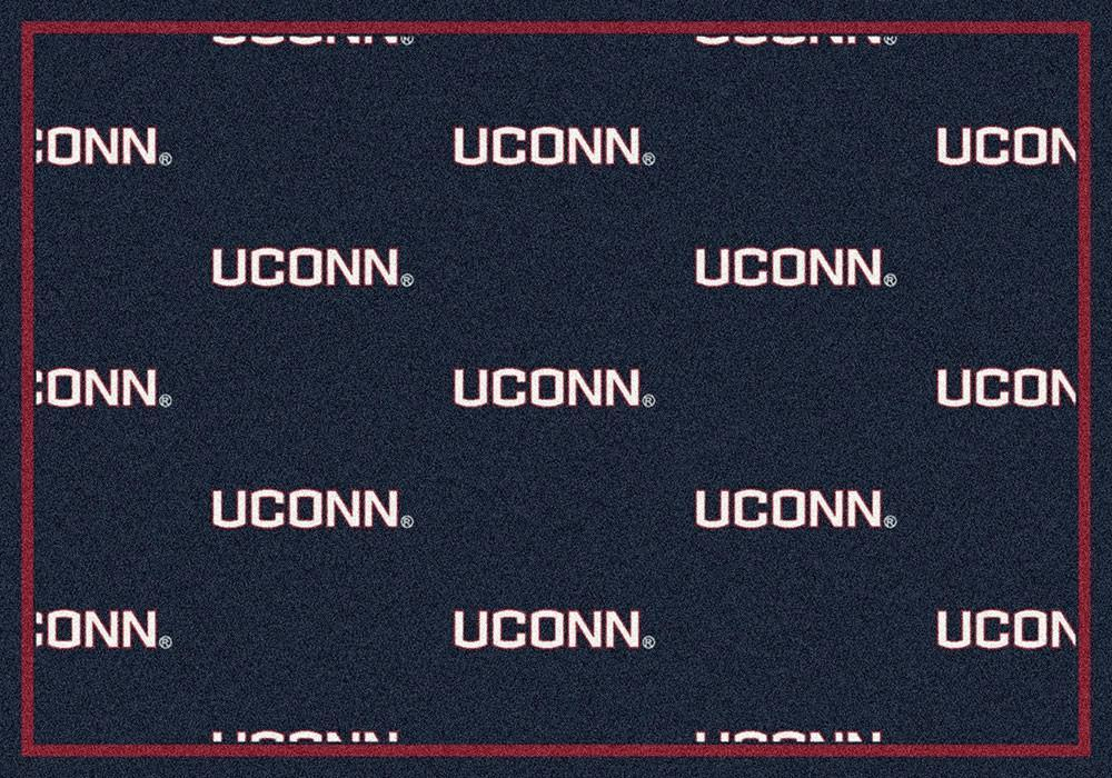 Connecticut Area Rug University Repeating Logo