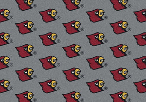 Louisville Area Rug University Repeating Logo