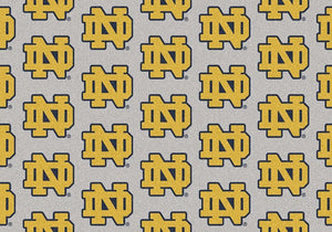 Notre Dame Area Rug University Repeating Logo