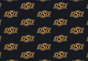 Oklahoma State Area Rug University Repeating Logo