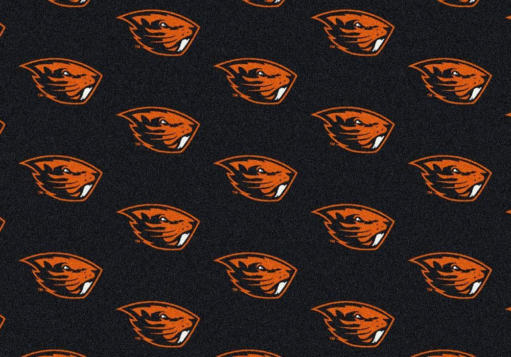 Oregon State Area Rug University Repeating Logo