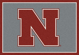 Nebraska Area Rug University Team Spirit