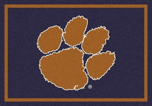 Clemson Area Rug University Team Spirit