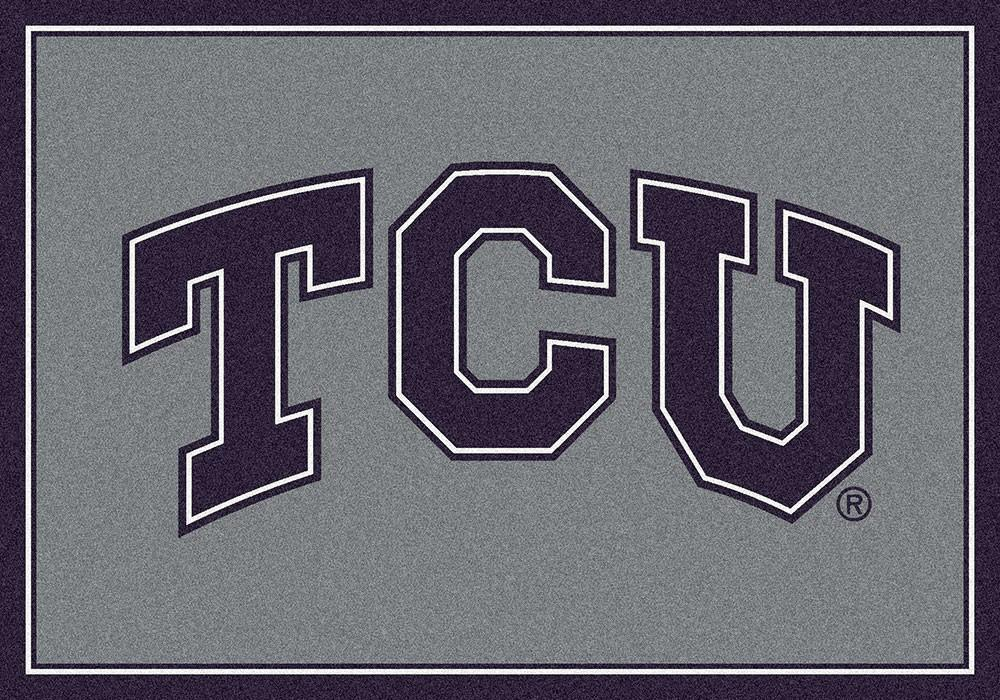 Texas Christian Area Rug University Team Spirit