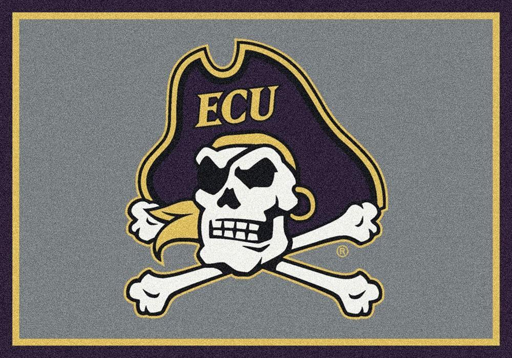 East Carolina Area Rug University Team Spirit
