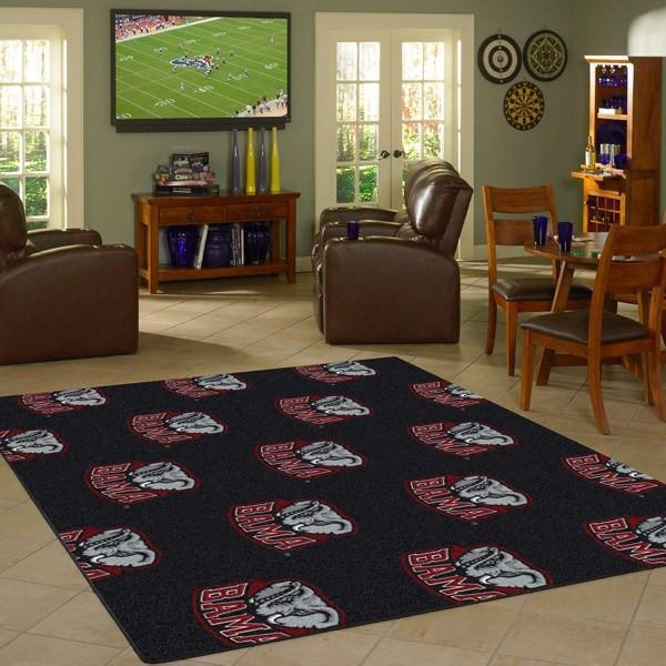 Alabama Area Rug Repeating Logo