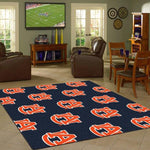 Auburn Area Rug Repeating Logo