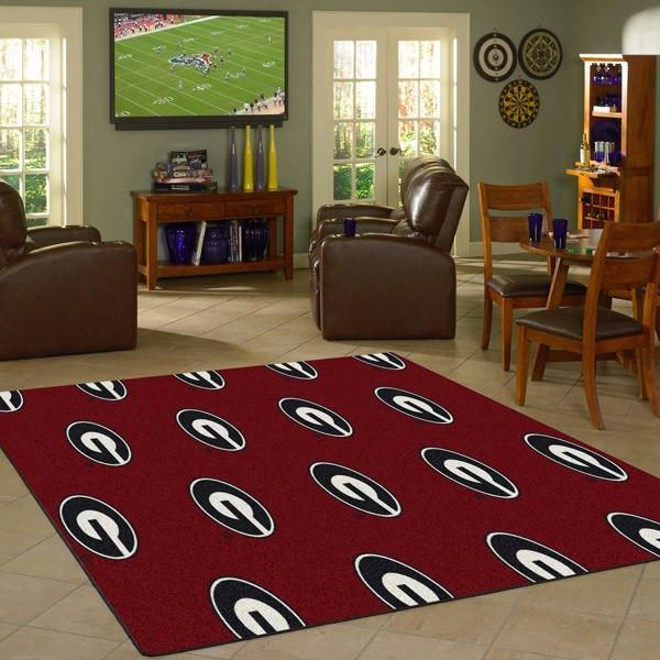 Georgia Rug University Repeating Logo