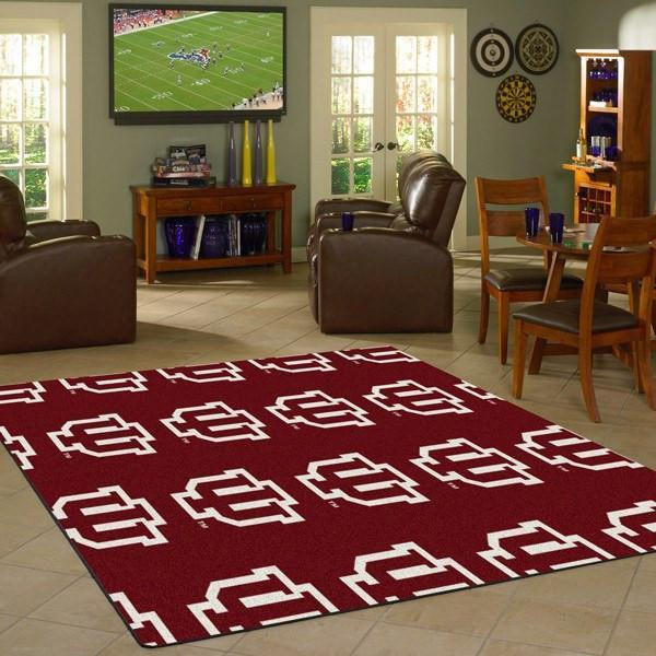 Indiana Rug University Repeating Logo