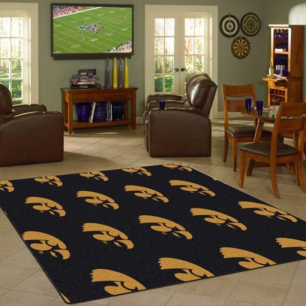 Iowa Rug University Repeating Logo