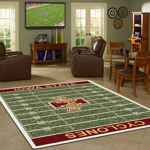 Iowa State Rug University Football Field