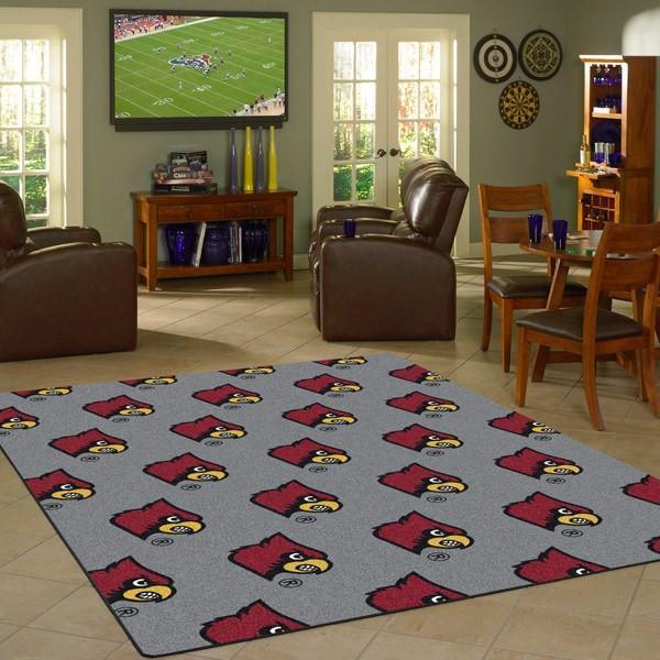 Louisville Rug University Repeating Logo