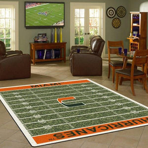 Miami Rug University Football Field