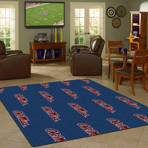 Mississippi Rug University Repeating Logo