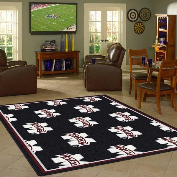 Mississippi State Rug University Repeating Logo