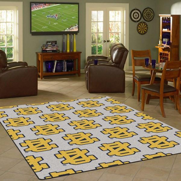 Notre Dame Rug University Repeating Logo