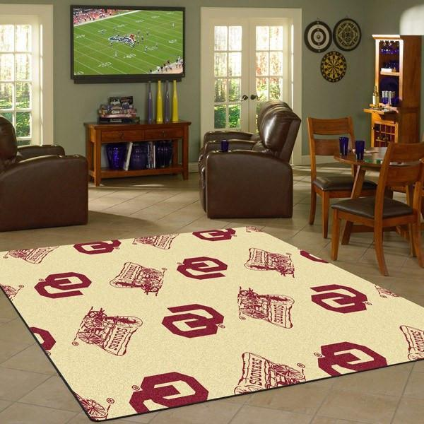 Oklahoma Rug University Repeating Logo