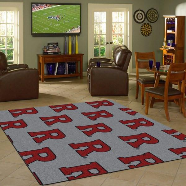 Rutgers Rug University Repeating Logo