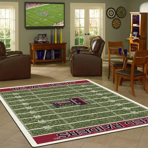 Texas Tech Rug University Football Field