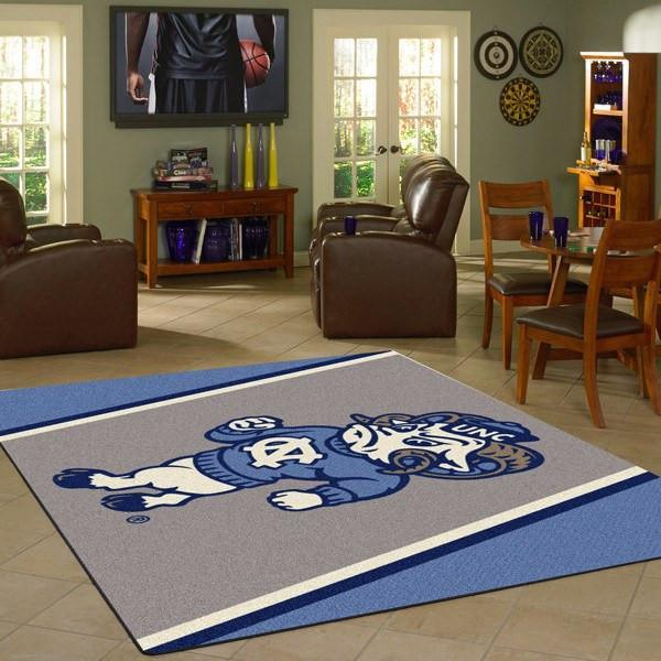 North Carolina Tar Heels Rug University Team Spirit