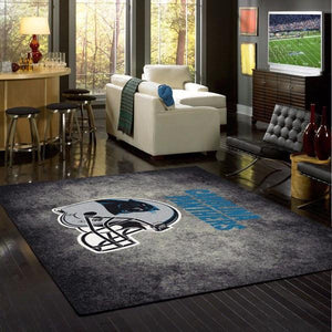 Carolina Panthers Distressed Area Rug
