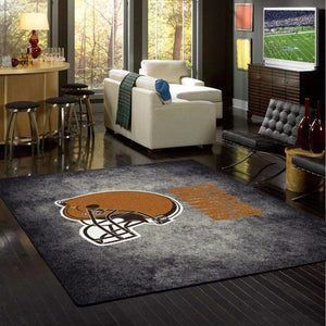 Cleveland Browns Distressed Area Rug