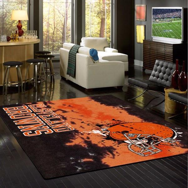 Cleveland Browns Faded Area Rug