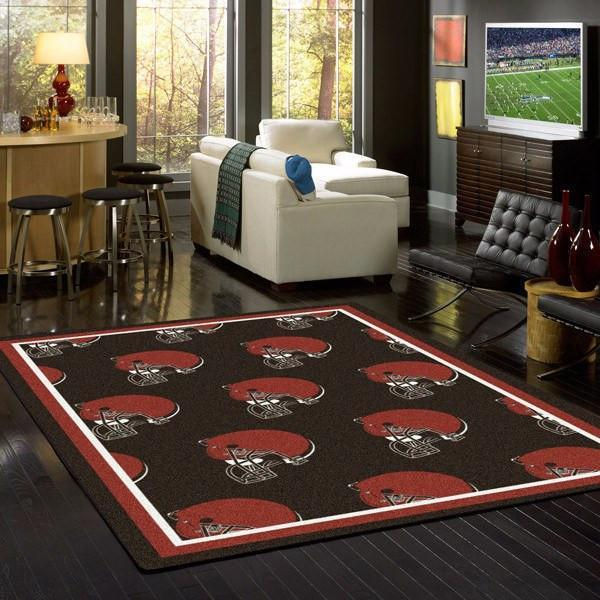 Cleveland Browns Rug Repeating Logo