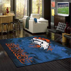 Denver Broncos Faded Area Rug