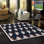 Denver Broncos Rug Repeating Logo