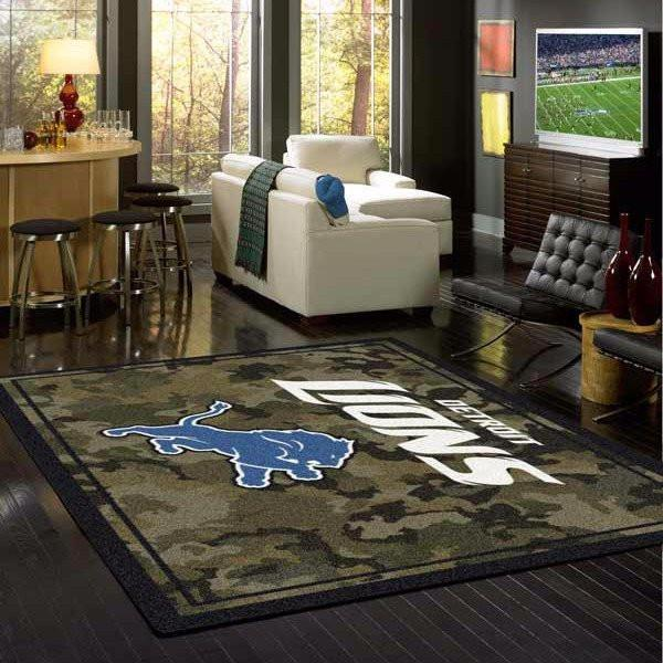 Detroit Lions Camouflage Rug