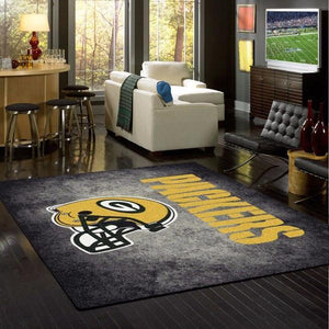 Green Bay Packers Distressed Area Rug