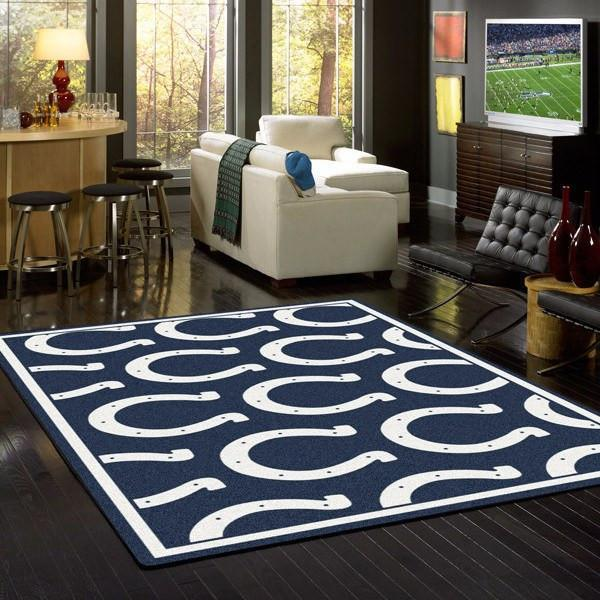 Indianapolis Colts Rug Repeating Logo