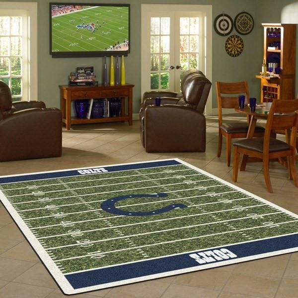 Indianapolis Colts Football Field Rug