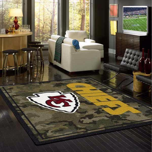 Kansas City Chiefs Camouflage Rug