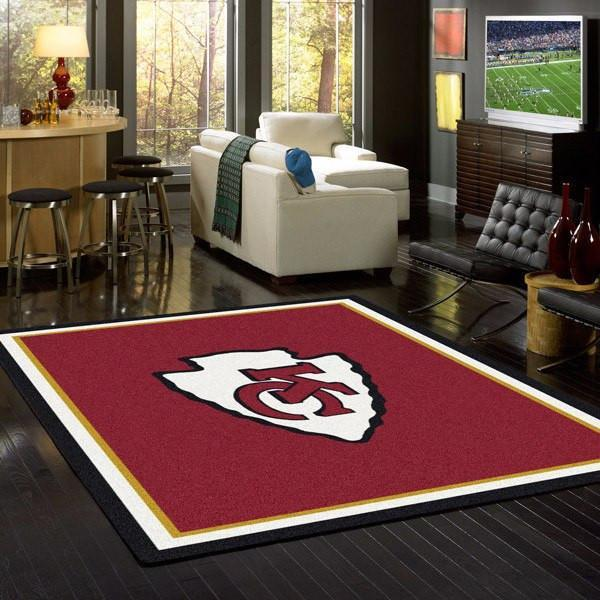 Kansas City Chiefs Rug Team Spirit