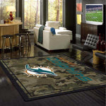 Miami Dolphins Camouflage Rug