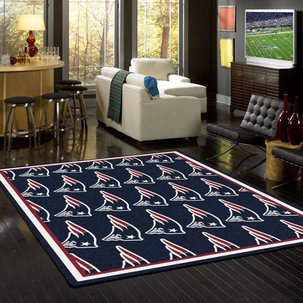 New England Patriots Rug Repeating Logo