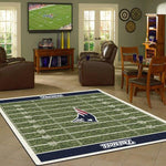 New England Patriots Football Field Rug