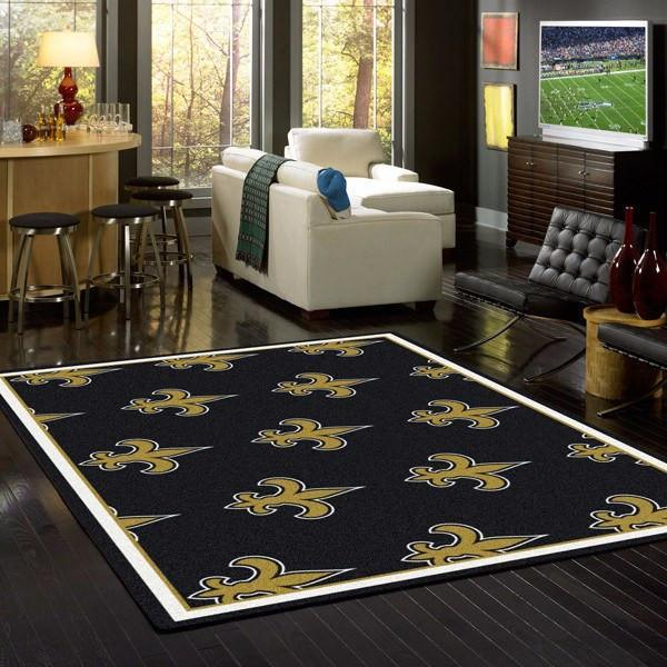 New Orleans Saints Rug Repeating Logo