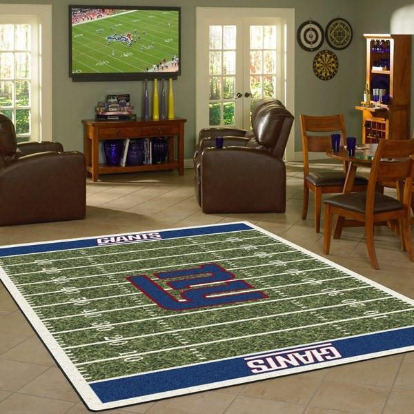 New York Giants Football Field Rug