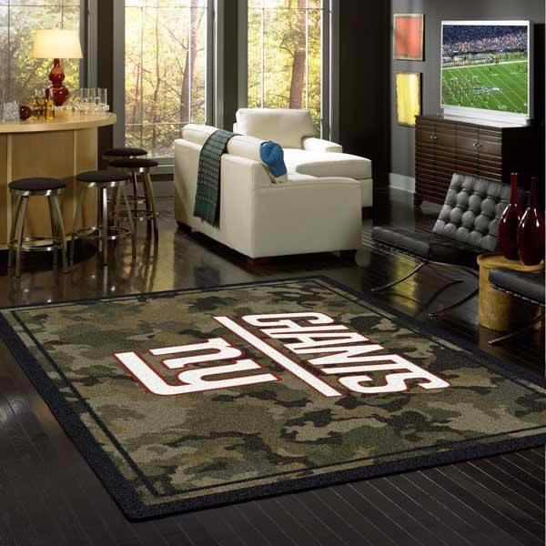 New York Giants Camouflage Rug