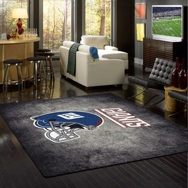 New York Giants Distressed Area Rug