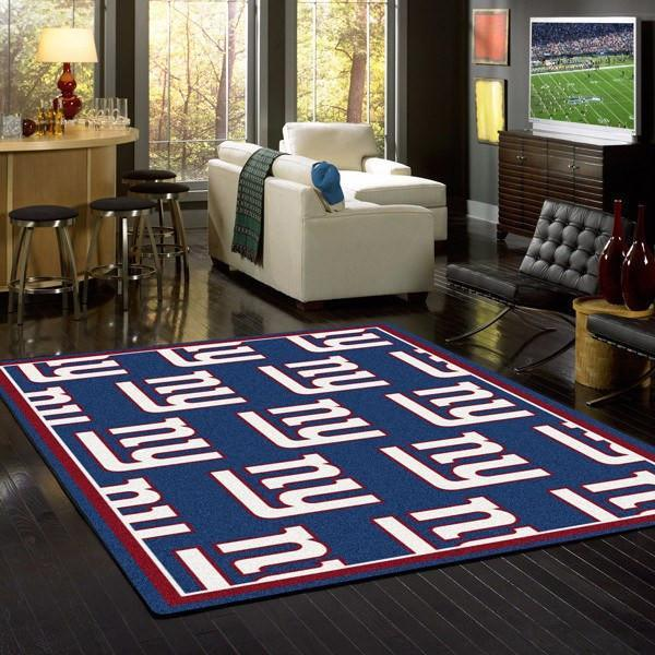 New York Giants Rug Repeating Logo
