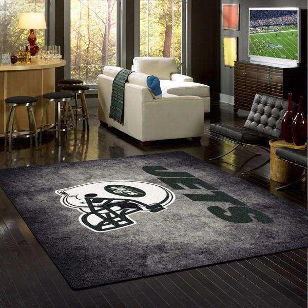 New York Jets Distressed Area Rug