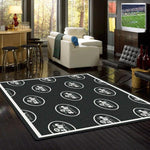 New York Jets Rug Repeating Logo