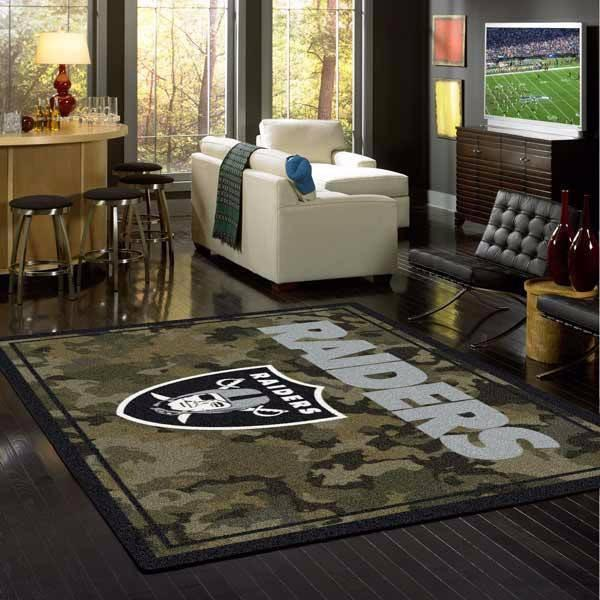 Oakland Raiders Rug NFL Team Camo
